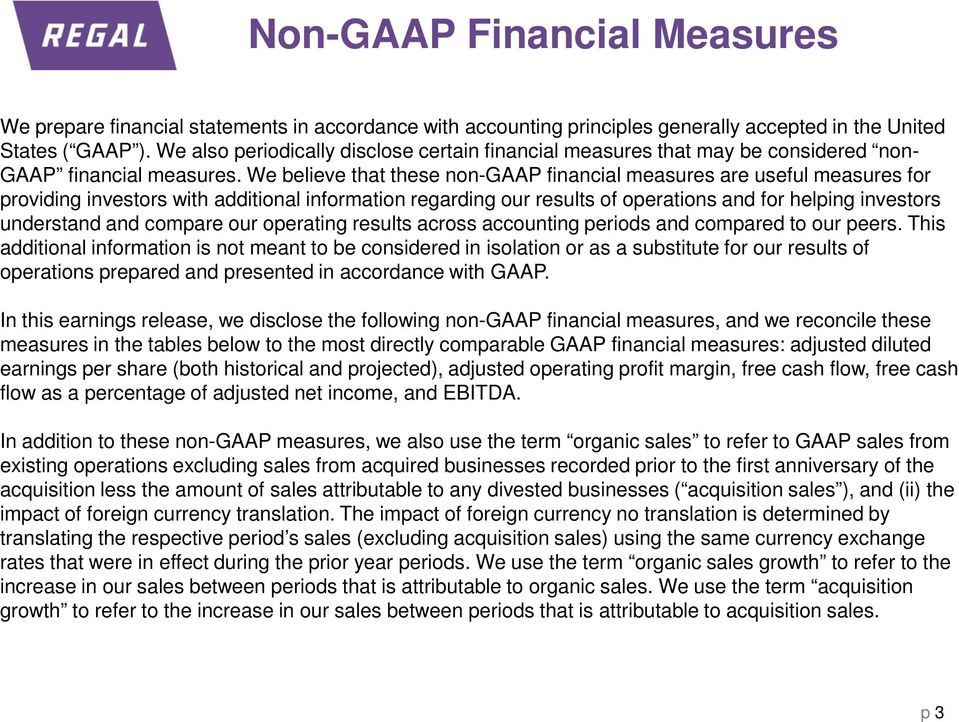 We believe that these non-gaap financial measures are useful measures for providing investors with additional information regarding our results of operations and for helping investors understand and