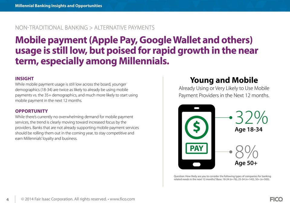 the 35+ demographics, and much more likely to start using mobile payment in the next 12 months.