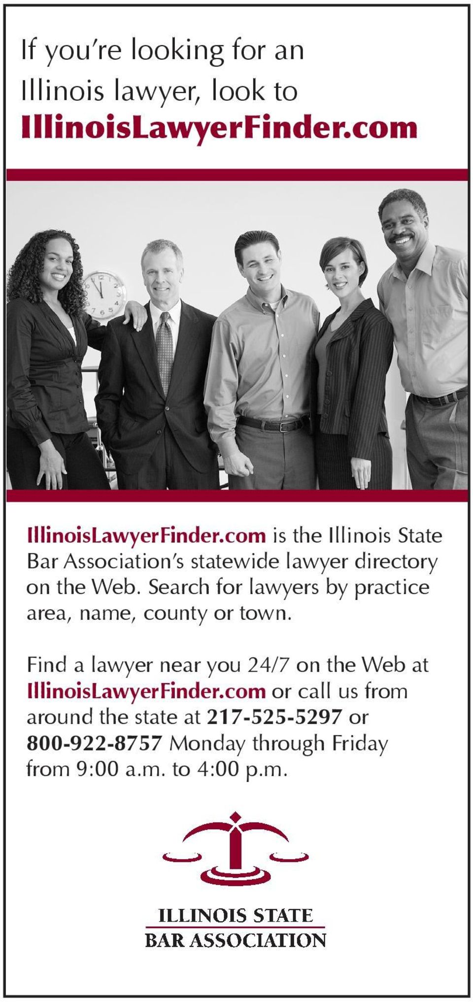 Search for lawyers by practice area, name, county or town.