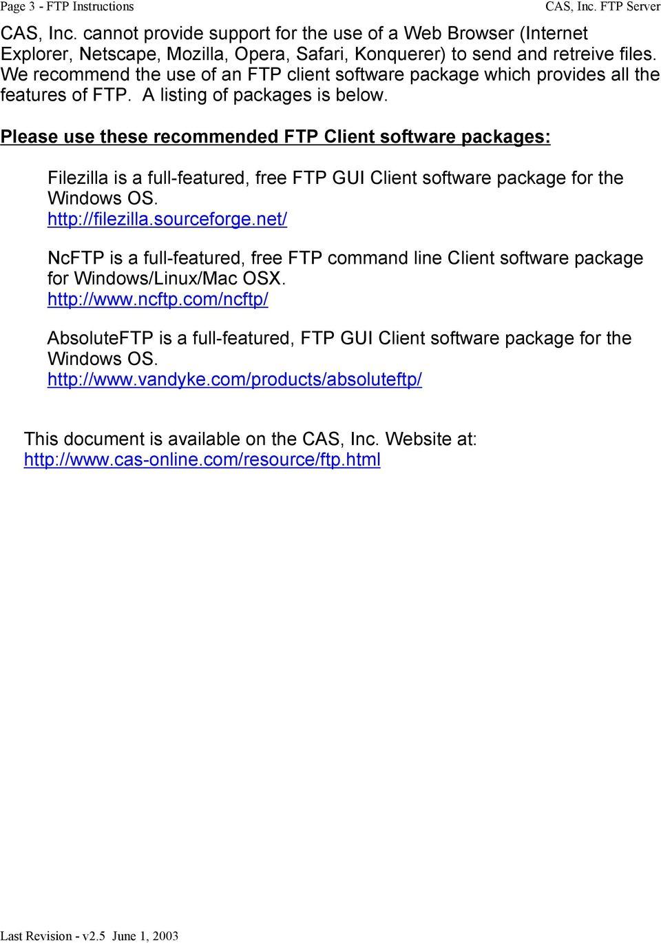 FTP File Transfer Protocol A Method to Send and Receive