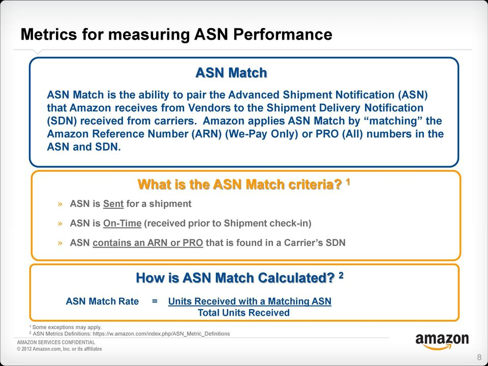 What is the ASN Match criteria?