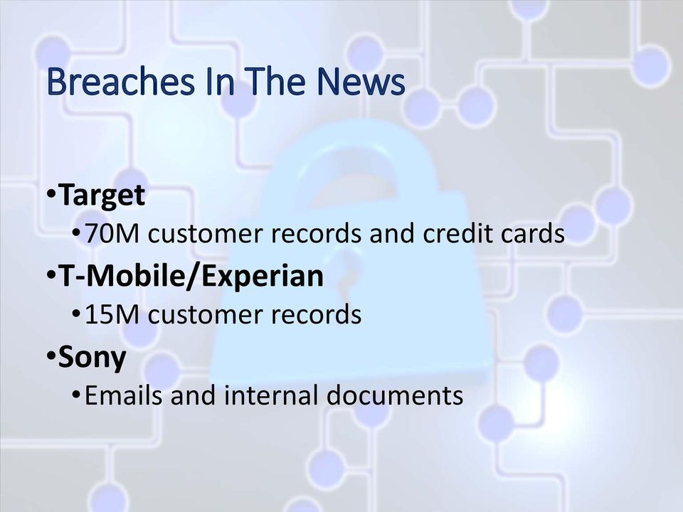 T-Mobile/Experian 15M customer