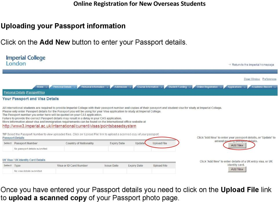 Once you have entered your Passport details you need to