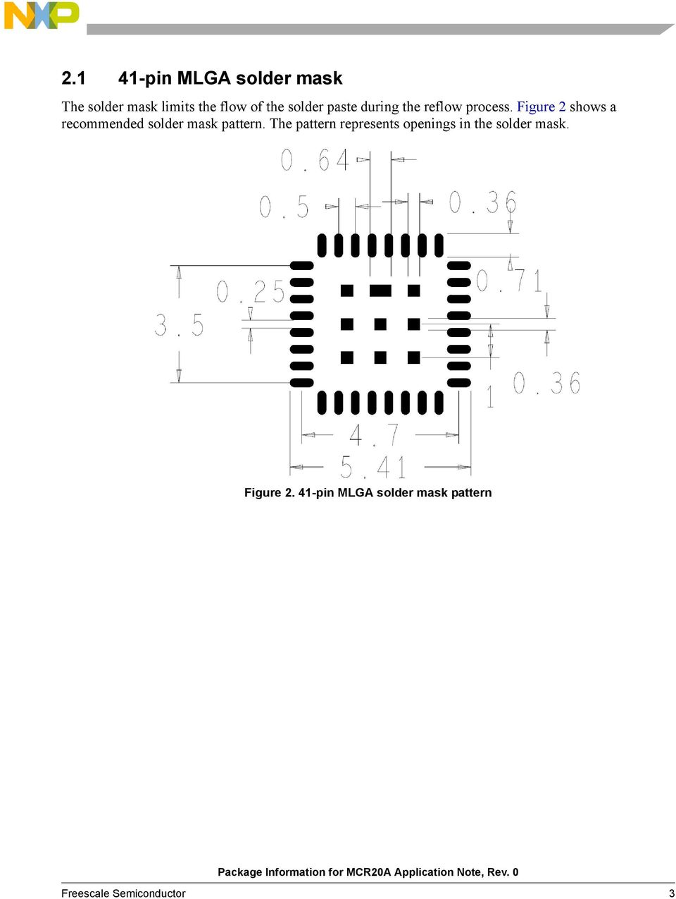 Figure 2 shows a recommended solder mask pattern.