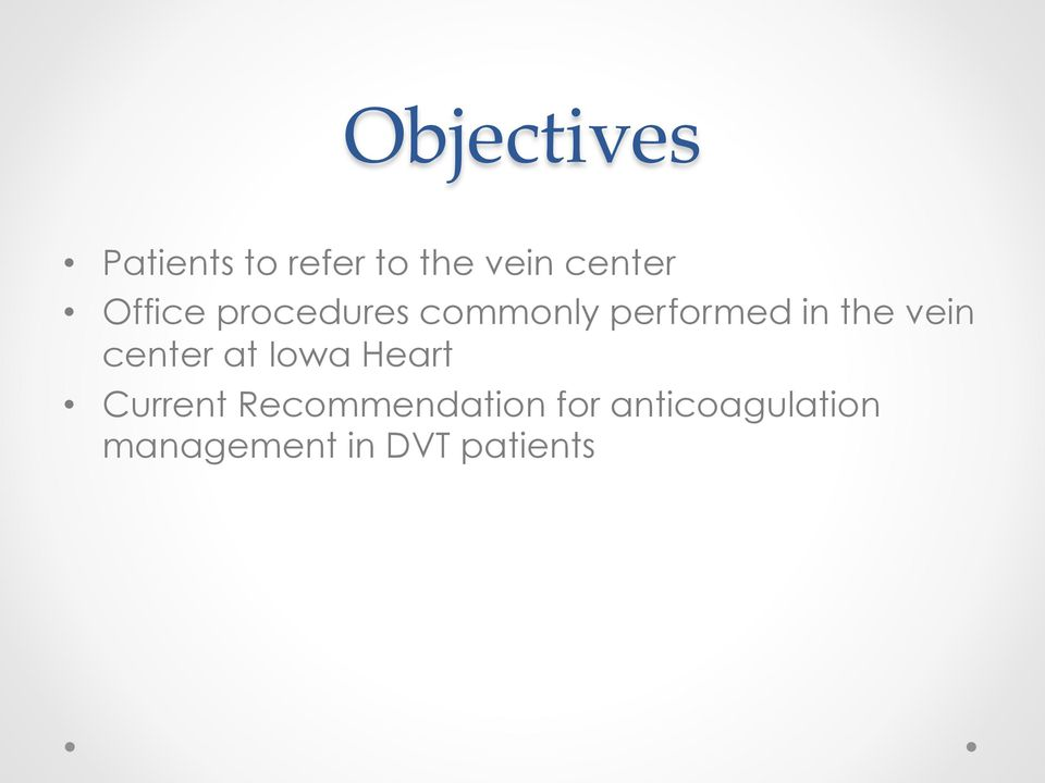 the vein center at Iowa Heart Current