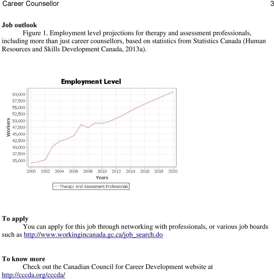 statistics from Statistics Canada (Human Resources and Skills Development Canada, 2013a).