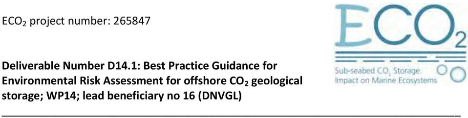 1: Best Practice Guidance for Environmental