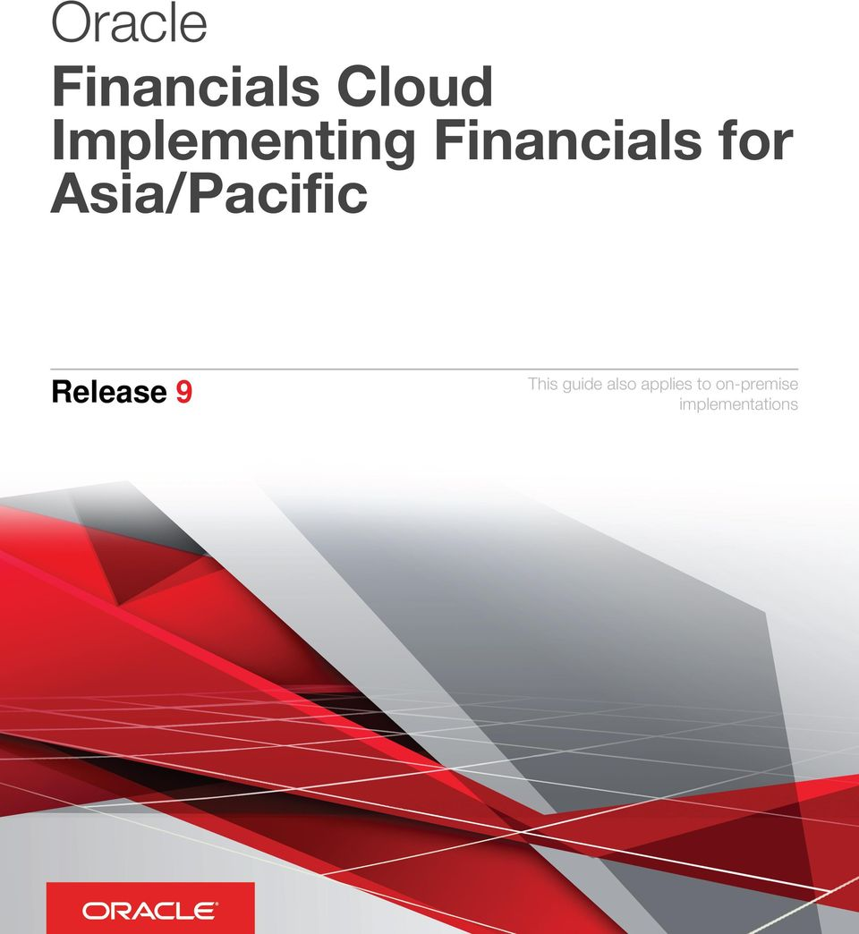 Asia/Pacific Release 9 This