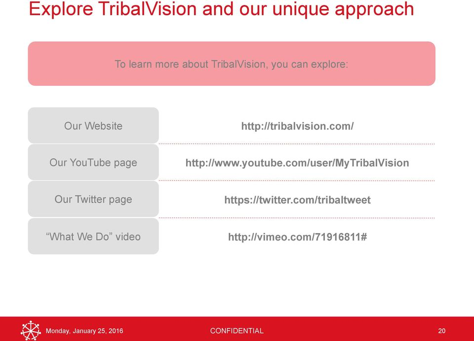 youtube.com/user/mytribalvision Our Twitter page https://twitter.