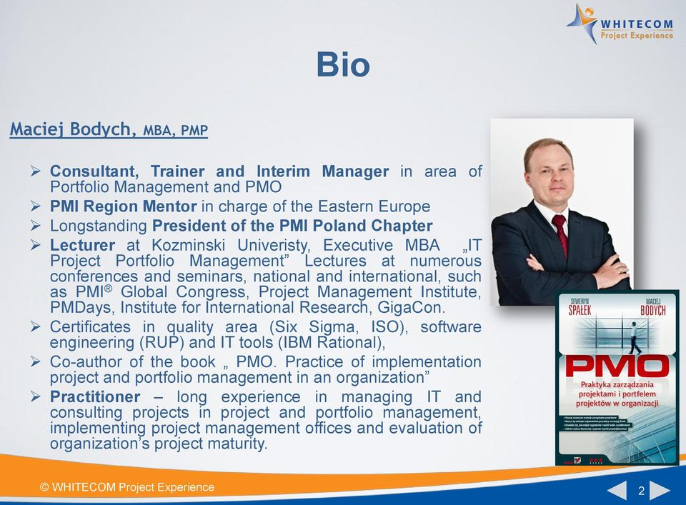 Management Institute, PMDays, Institute for International Research, GigaCon.