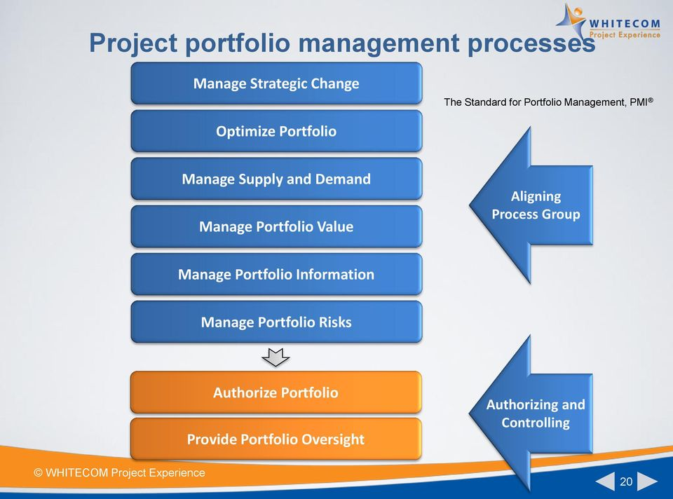 Portfolio Value Aligning Process Group Manage Portfolio Information Manage