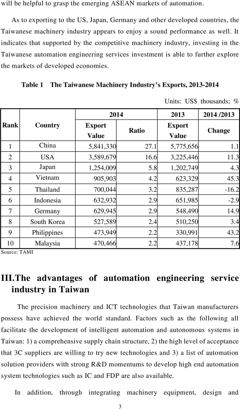 It indicates that supported by the competitive machinery industry, investing in the Taiwanese automation engineering services investment is able to further explore the markets of developed economies.