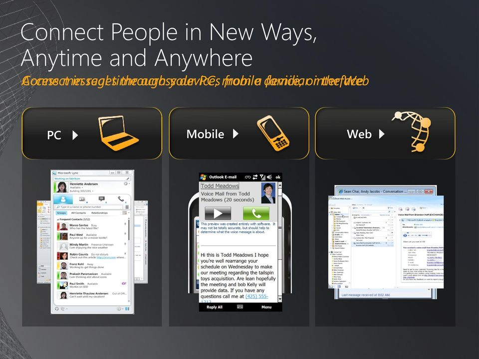 through across your devices PC, mobile from a