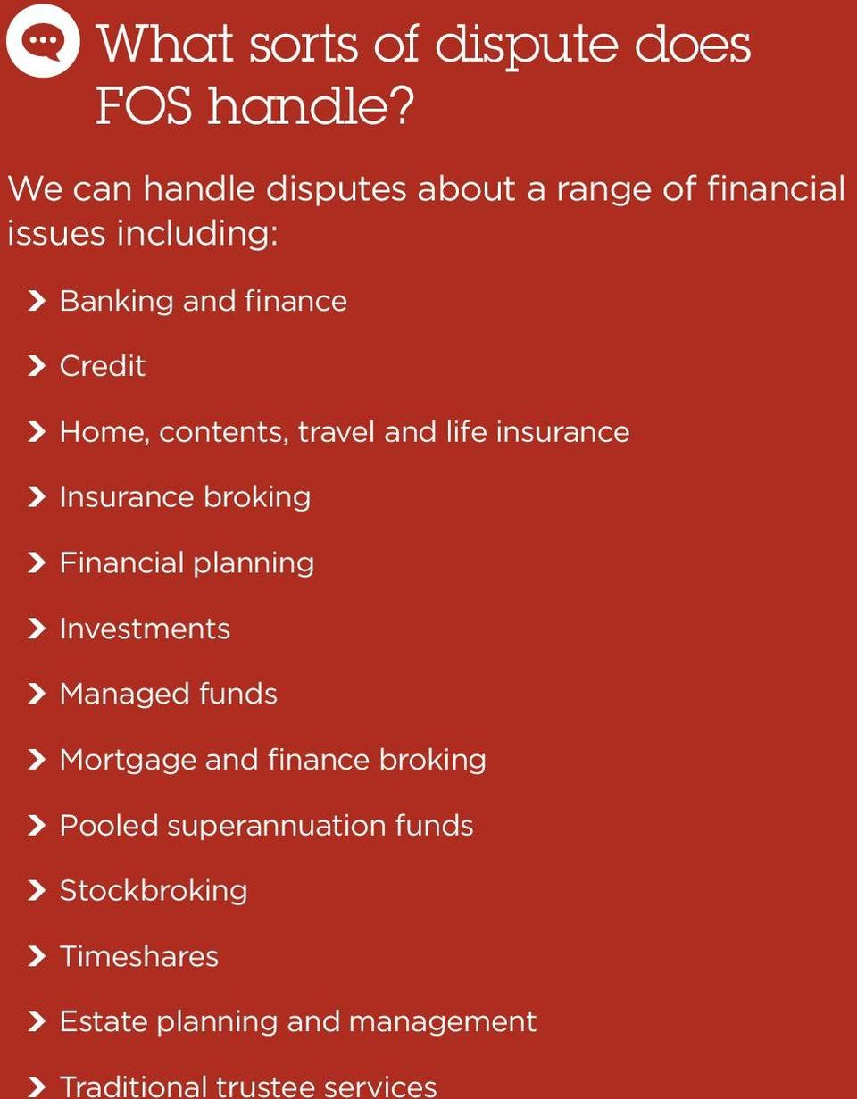 Home, contents, travel and life insurance Insurance broking Financial planning Investments