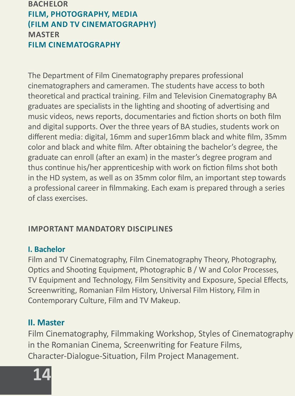 Cinematography And Film research newspaper