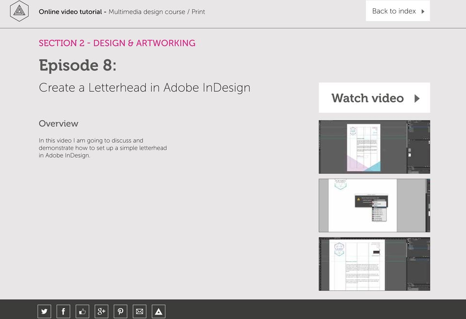 how to create a letterhead in indesign