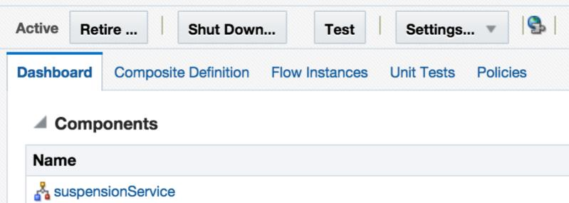 0] Click on Flow Instances Click on the Search
