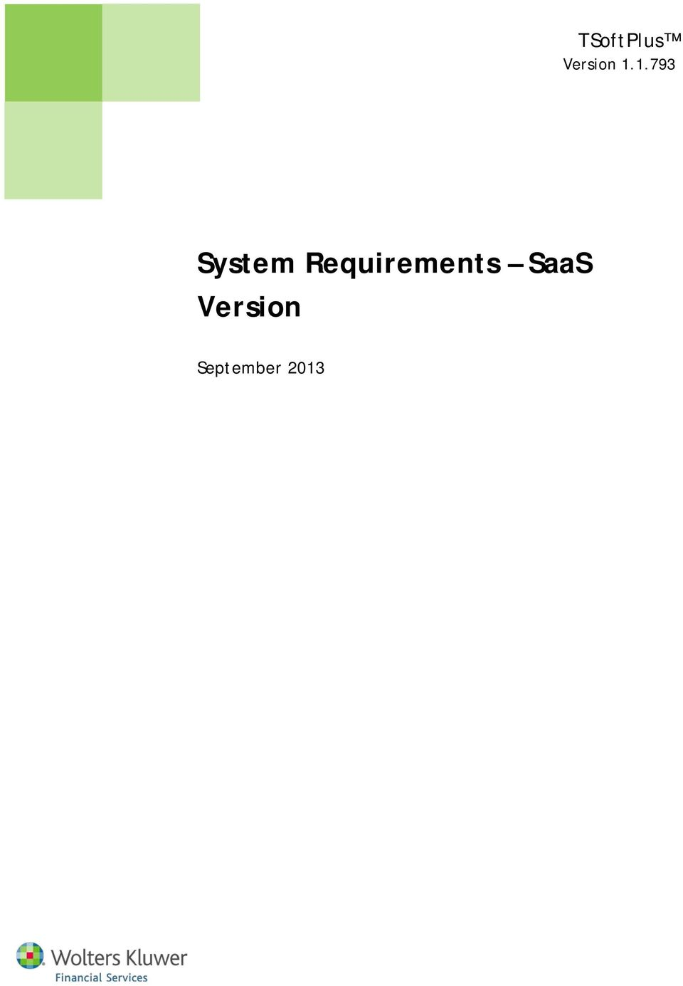 Requirements SaaS
