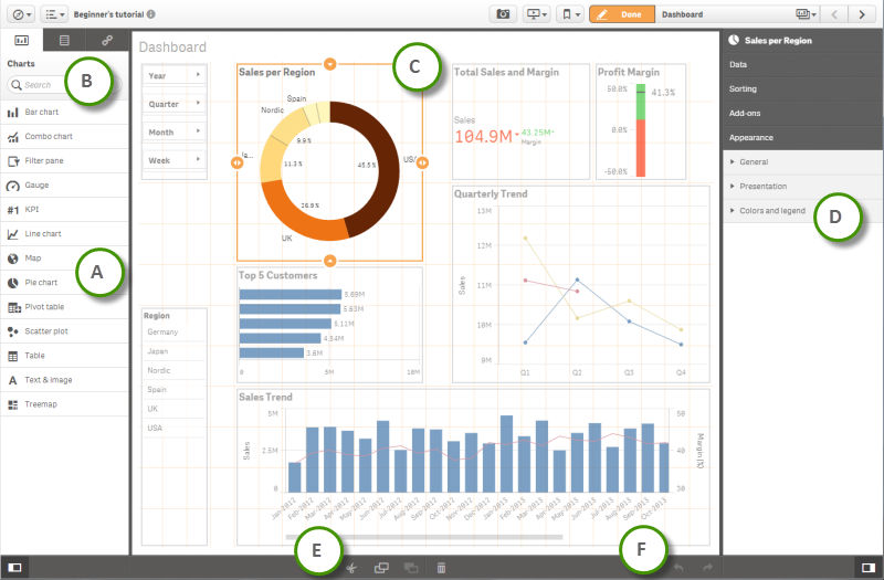 Self-Service Visualization and Discovery Qlik Sense Desktop allows you to create apps and visualizations quickly by using an intuitive design and navigation paradigm that works well on both computers