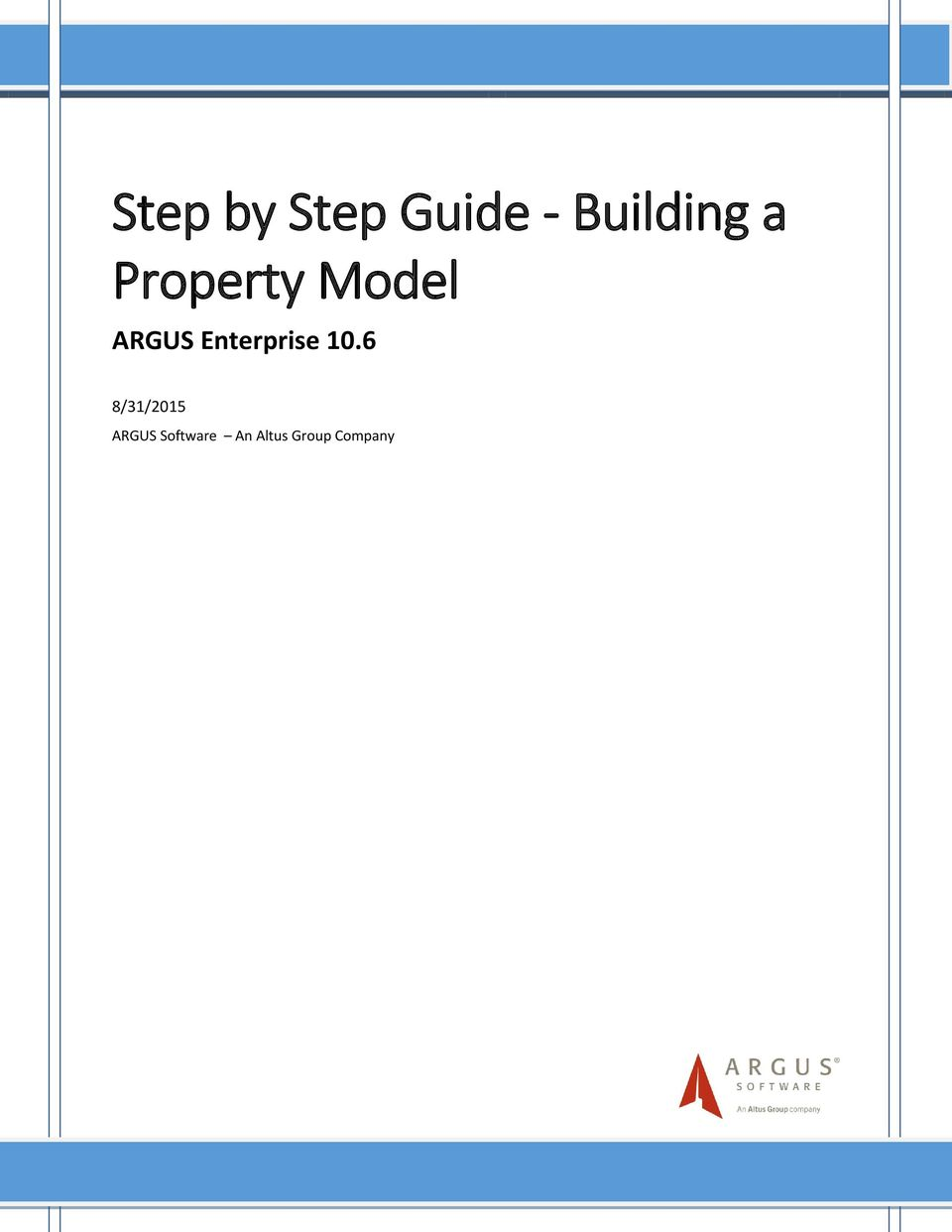 Step by step guide building a property model pdf for How to build a house step by step instructions