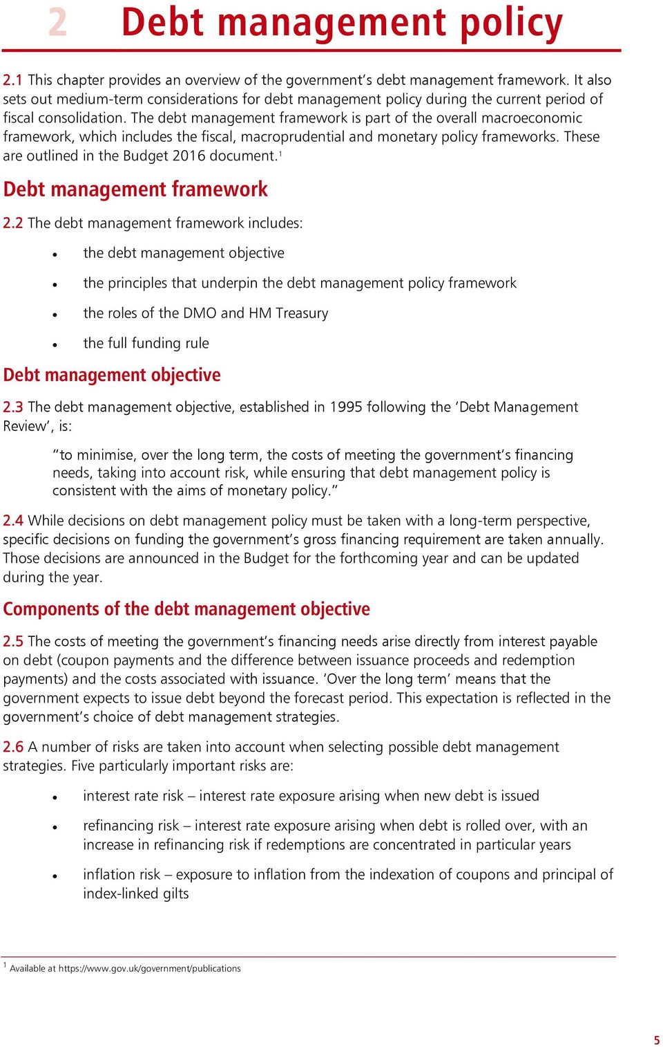 what is debt management pdf