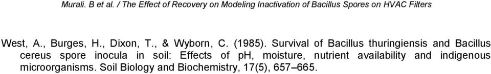 The effect of recovery on modeling inactivation of for Soil biology and biochemistry