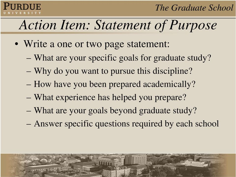 How have you been prepared academically? What experience has helped you prepare?