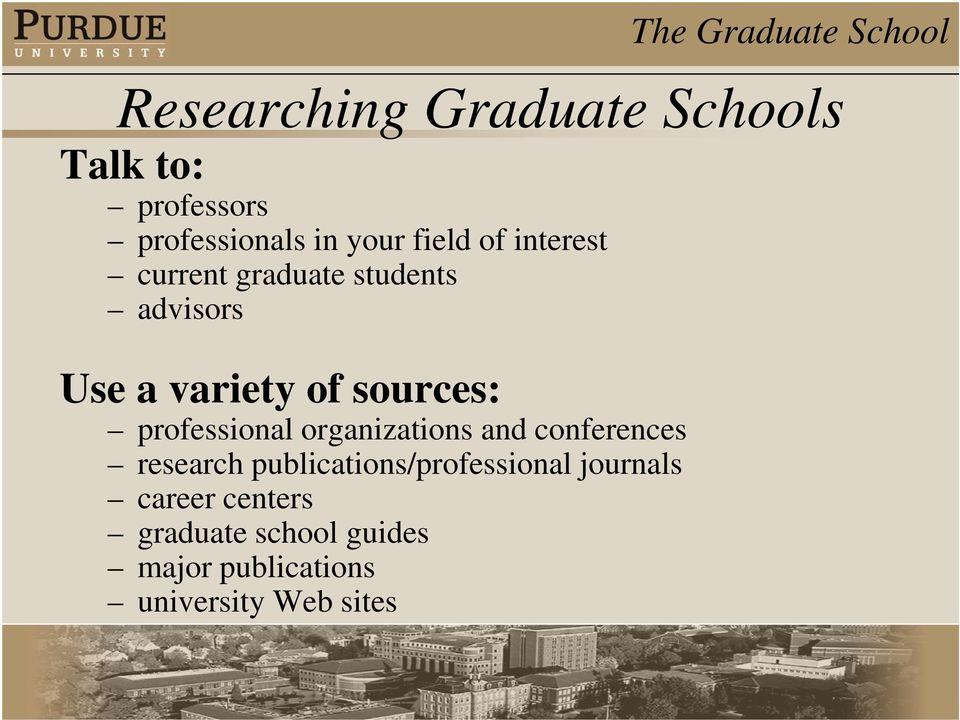 professional organizations and conferences research publications/professional