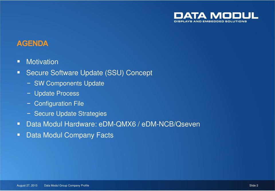 Strategies Data Modul Hardware: edm-qmx6 / edm-ncb/qseven Data