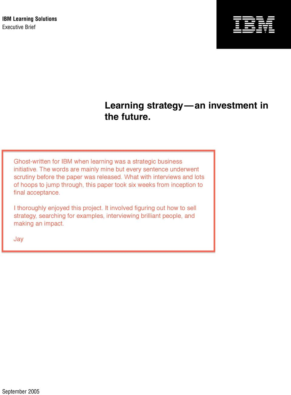 strategy an investment
