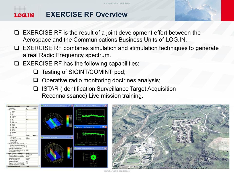 EXERCISE RF combines simulation and stimulation techniques to generate a real Radio Frequency spectrum.