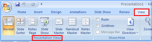 "Add a new slide 4 Home Tab >> Slides >> New Slide Click on New Slide button. It adds a new slide in the default layout ""Title and Content."