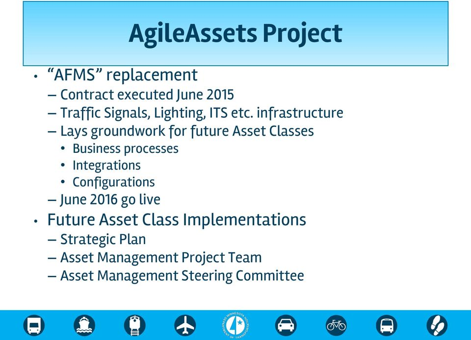 infrastructure Lays groundwork for future Asset Classes Business processes