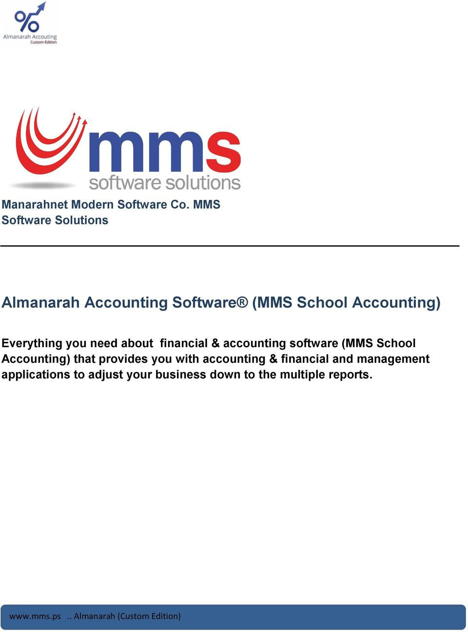 Everything you need about financial & accounting software (MMS School