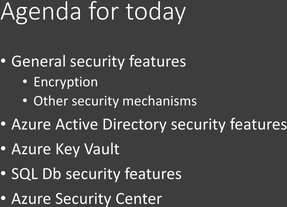 Active Directory security features Azure Key
