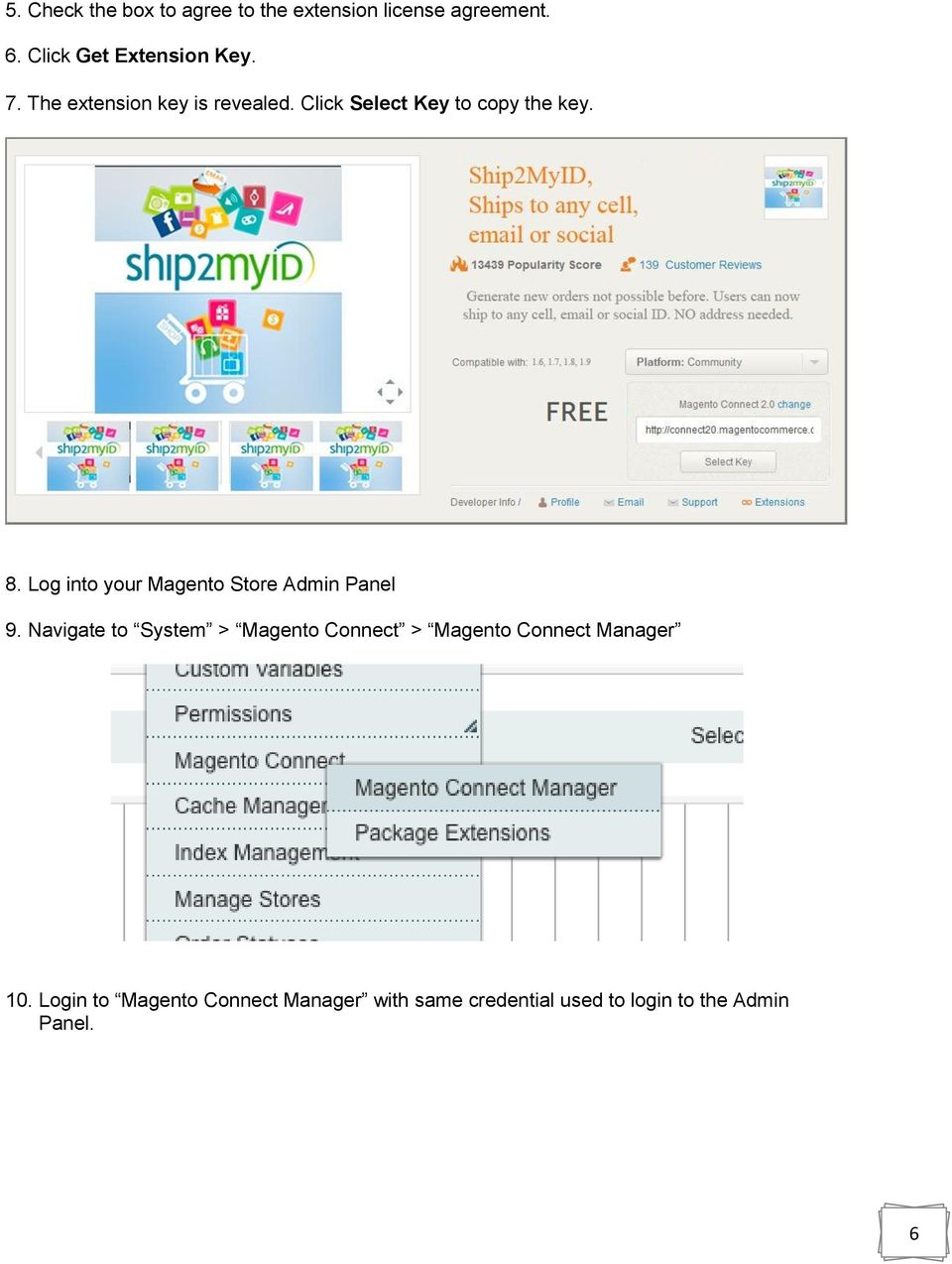 how to use magento connect manager