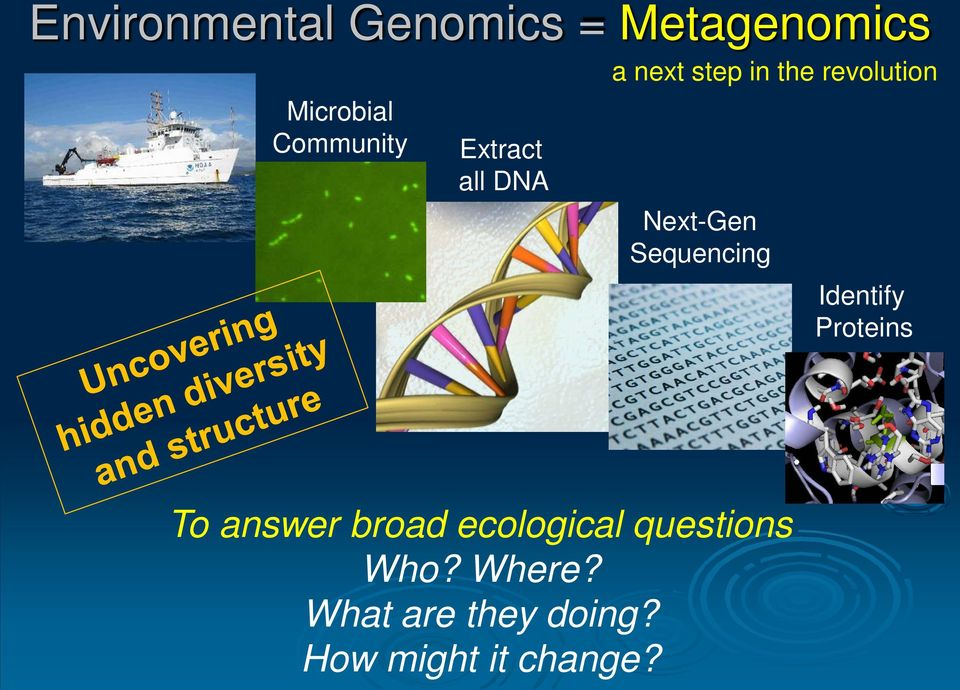Sequencing Identify Proteins To answer broad ecological