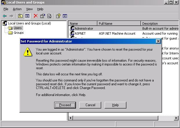 the administrator password can be modified: