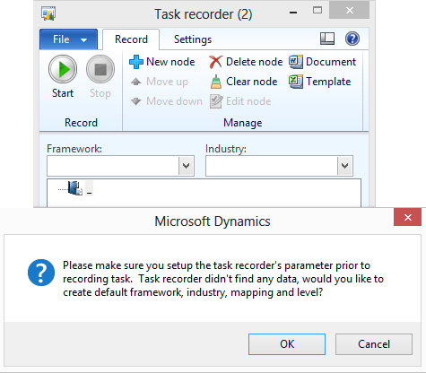 Record a task in basic mode To record a task in basic mode, follow these steps: 1. On the File menu, click Tools > Task recorder to open the Task recorder form. 2.
