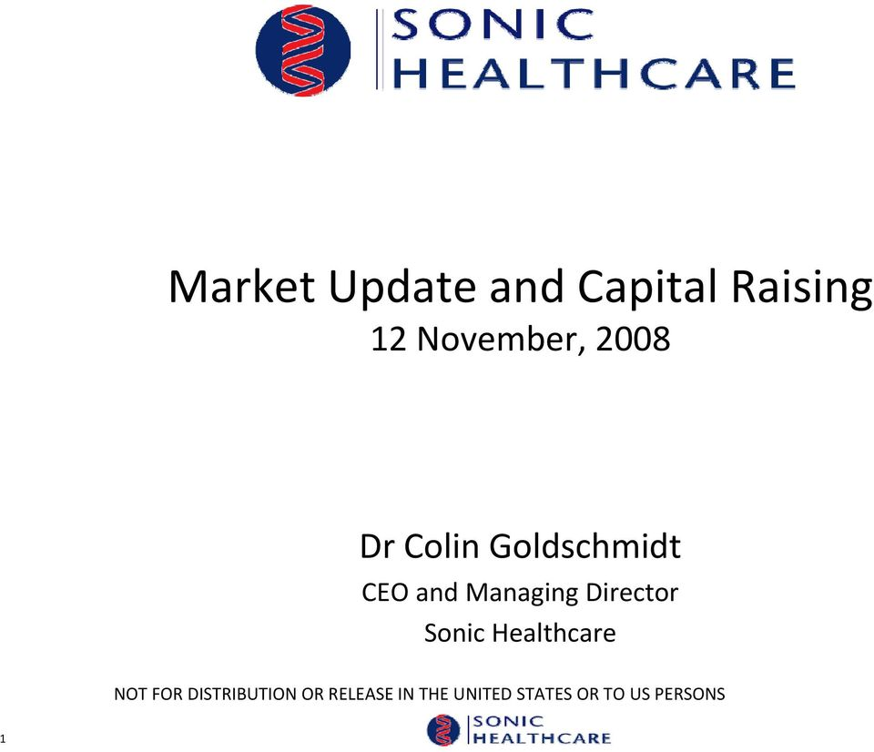 Colin Goldschmidt CEO and