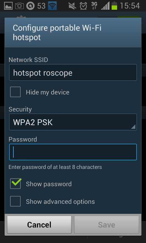 Android Device and the ROSCOPE i2000?