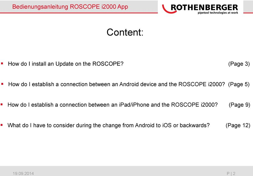 (Page 5) How do I establish a connection between an ipad/iphone and the ROSCOPE i2000?