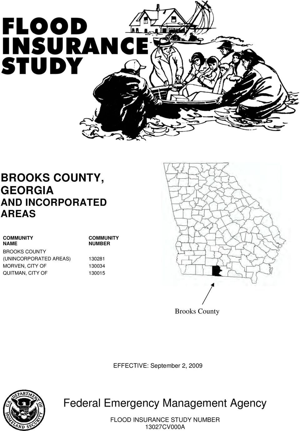 130034 QUITMAN, CITY OF 130015 Brooks County EFFECTIVE: September 2,
