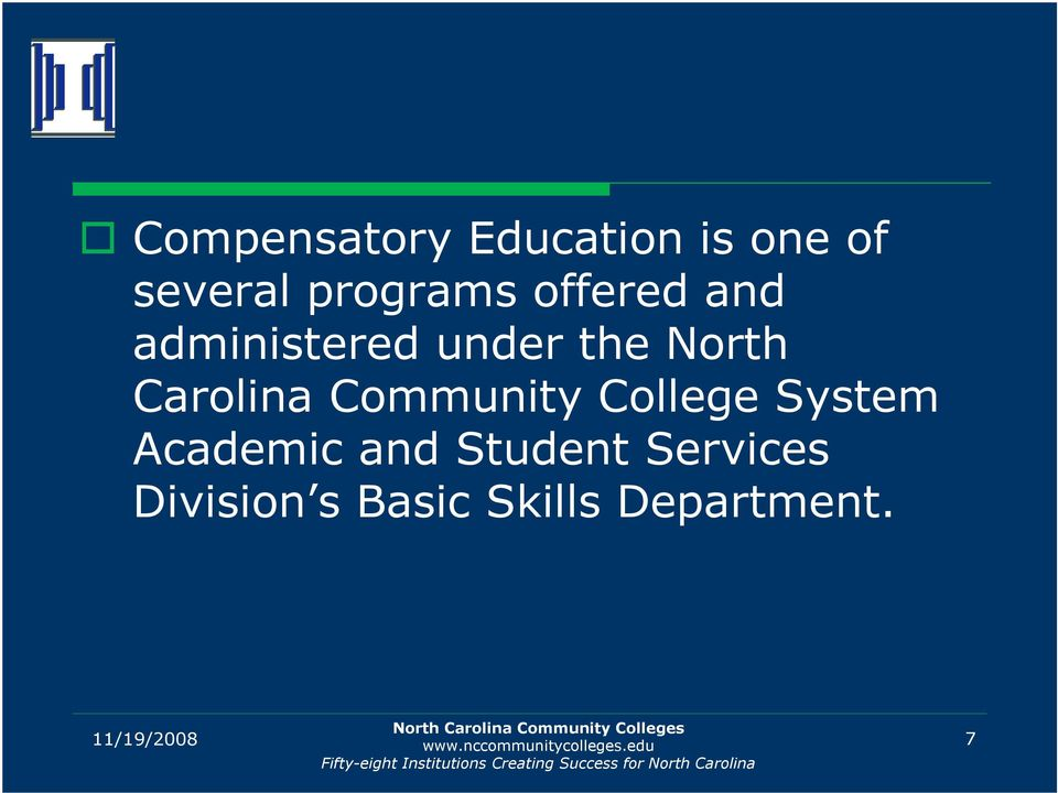 Community College System Academic and Student