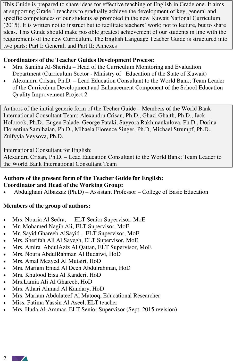 kuwait national curriculum  knc  a guide for effective teaching of english language in grade one
