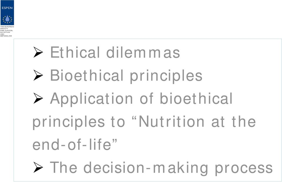 bioethical principles to