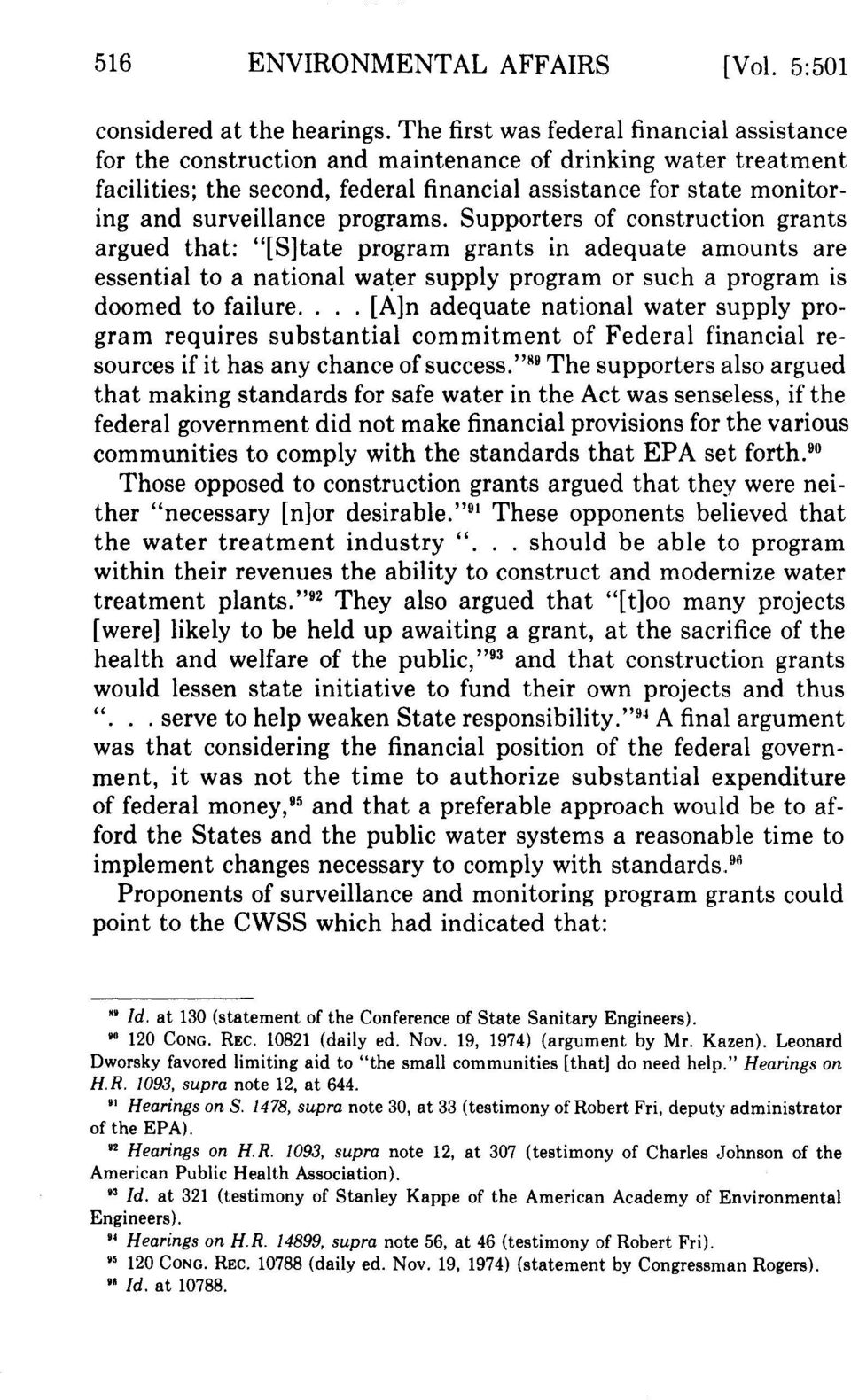 Summary of Water Prevention and Control of Pollution Act (1974) of India