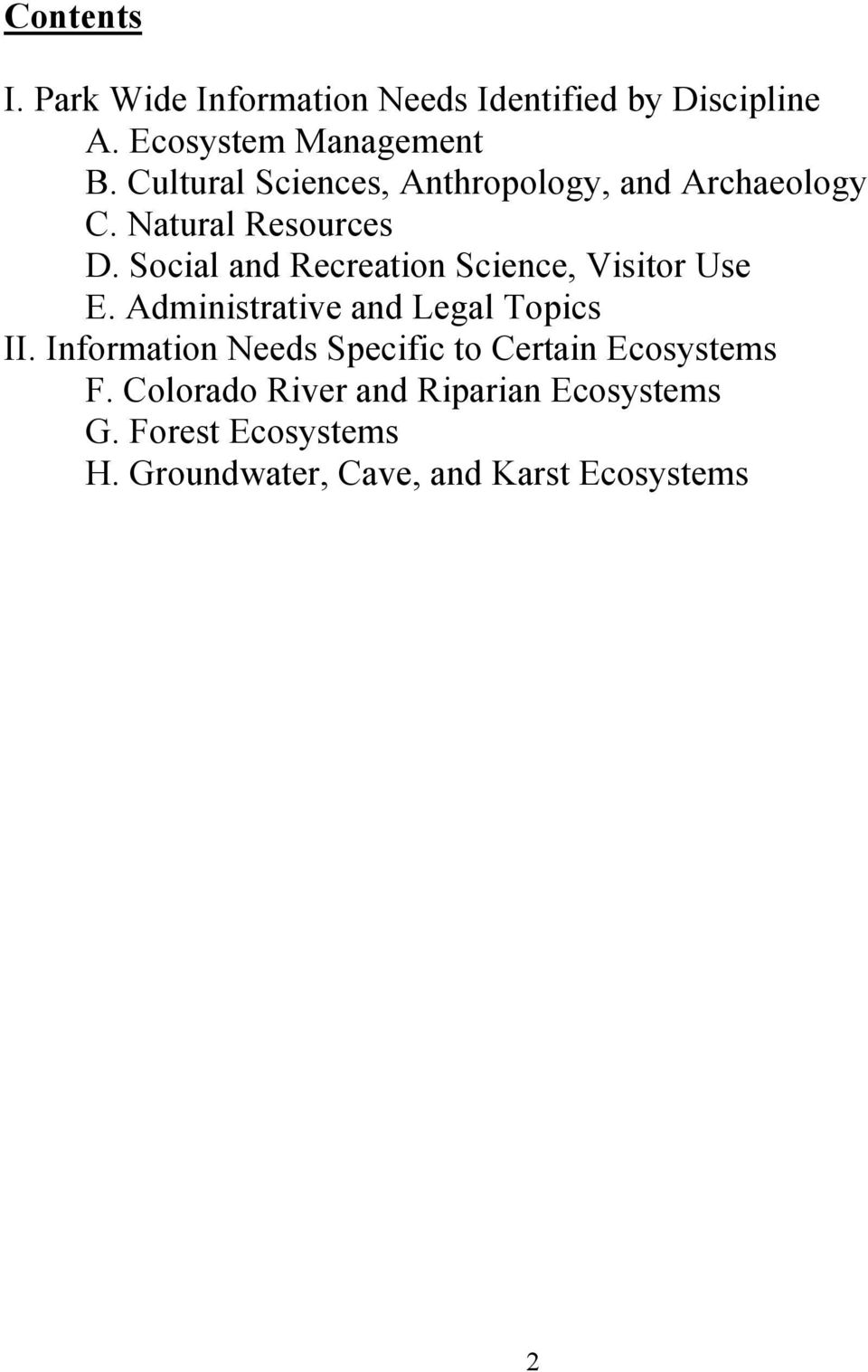 Parks and Recreation Management report topic ideas