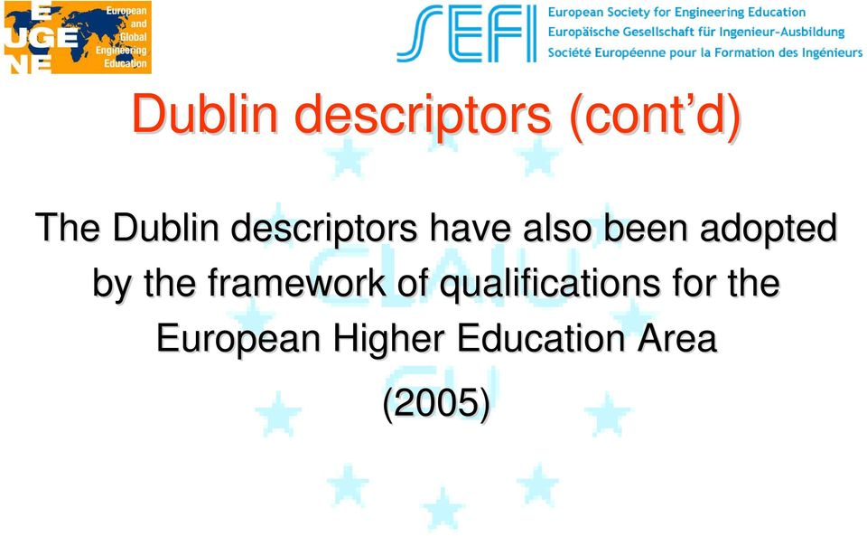 the framework of qualifications for