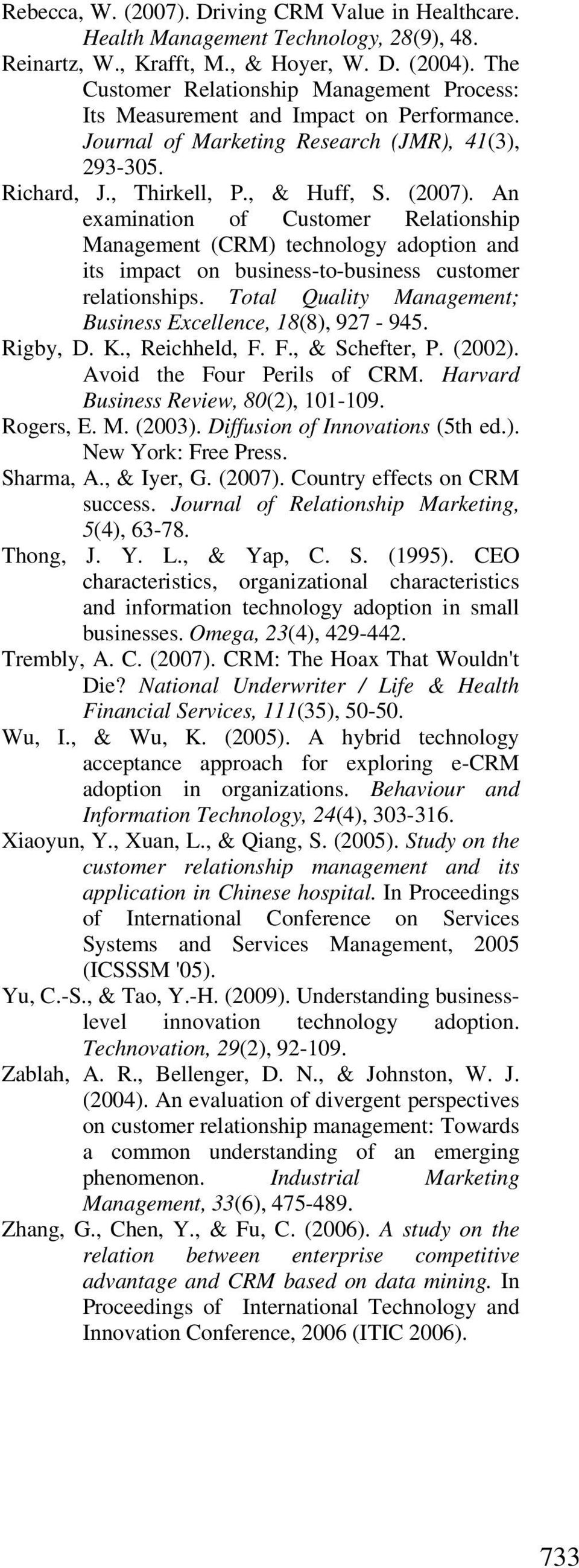 phd thesis on customer relationship management International journal of business and social science vol 7, no 4 april 2016 200 the impact of customer relationship management on hotels performance in.
